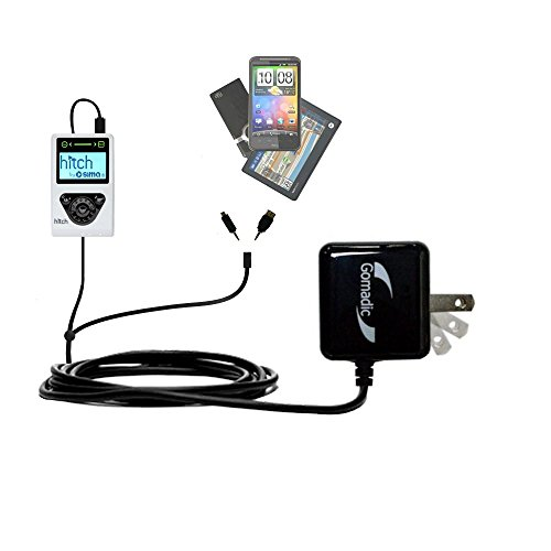 Gomadic Double Wall AC Home Charger suitable for the Sima Hitch - Charge up to 2 devices at the same time with TipExchange Technology