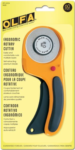 OLFA Deluxe Rotary Cutter-60mm, black and yellow by OLFA