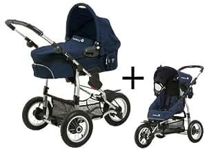 Safety 1st 75703670 Ideal Sportive - Carrito convertible, incluye silla, capazo y adaptador para silla de coche de grupo 0+, color azul