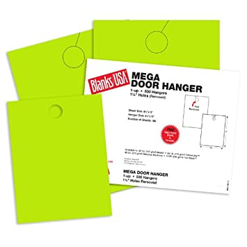 amazon com blanks usa spring green mega door hangers 8 1 2 x 11