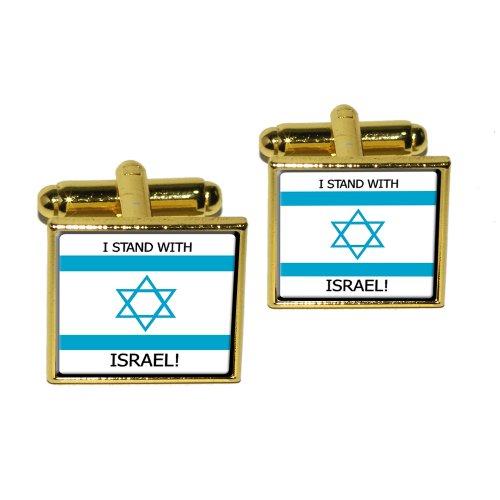 Stand Israel Israeli Support Cufflink