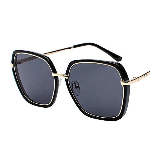Aoligei Hommes et femmes marée personnes océan verres métalliques brillantes couleurs lunettes de soleil lunettes de visage rond transparent de personnalité Qnjzp