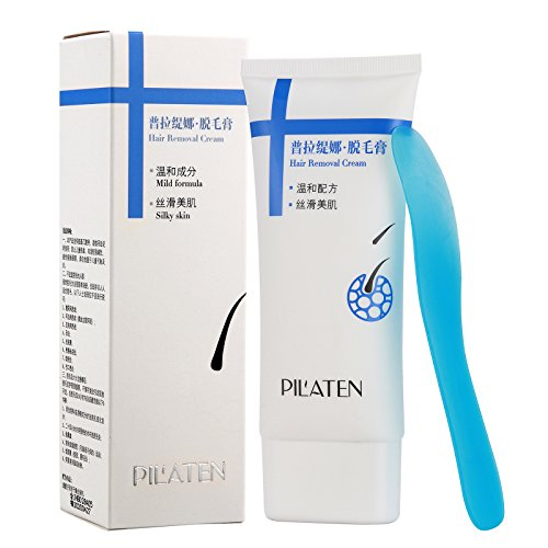 Baisidai PILATEN Unisex Painless Natural Hair Removal Depilatory Cream for Body Leg Armpit Area (100G)