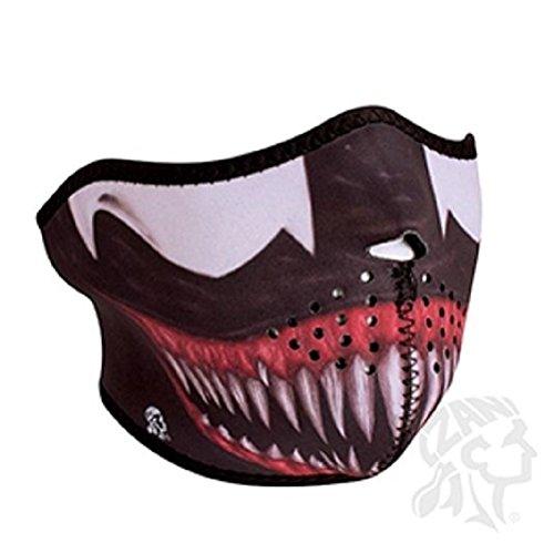 Ski Free Monster (Toxic Alien Fangs Teeth Neoprene Half Face Mask Biker Costume Paintball Ski)