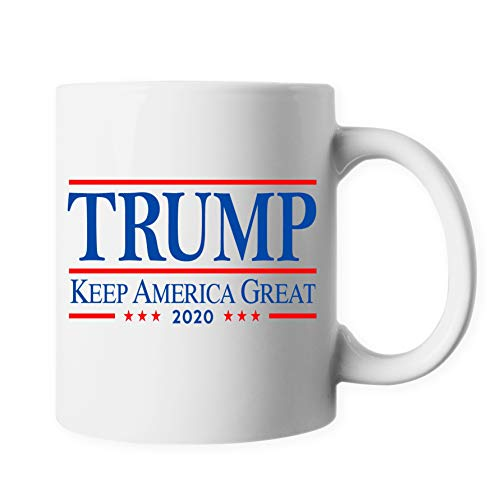 ELEPHIELD Donald Trump Keep America Great 2020 Presidential Support Patriot Ceramic Coffee Mug Tea Cup ELP108