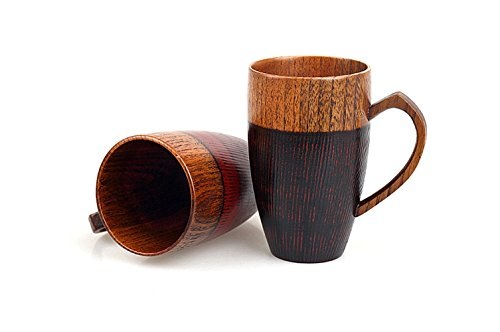 WOOD MEETS COLOR Mug Cup Handmade Wood with Heart Handle(Black 10 OZ) by WOOD MEETS COLOR (Image #3)