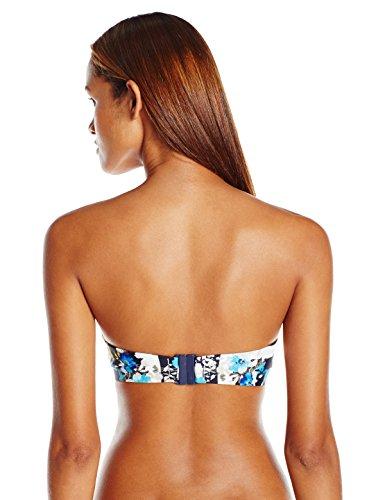 Panache Women's Suki Bra-Sized Molded Strapless Plunge Bandeau Bikini Top, Geo Floral, 28 E