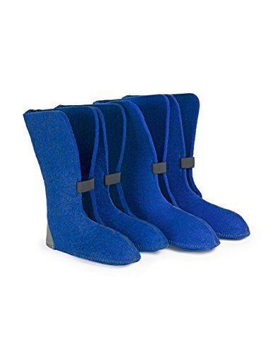 Boot Liners 624/626Y Eco-Friendly 50% Wool, 13 Height Royal Blue