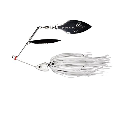 Freedom Tackle Freedom Swing Hook Spinnerbait 1 2 Oz Double Willow Leaf Spinnerbait  White