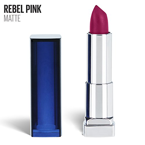 Maybelline New York Color Sensational Pink Lipstick Matte Lipstick, Rebel Pink, 0.15 oz (Rebel Matte)