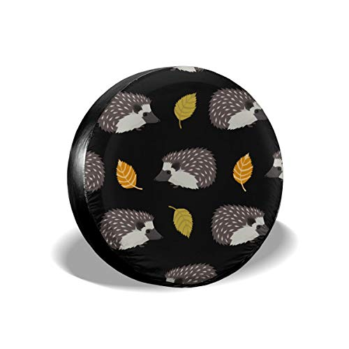 EYFlife Hedgehog Pattern Classic Spare Tire Cover for Jeep SUV RVs Universal Fit 14-17 in