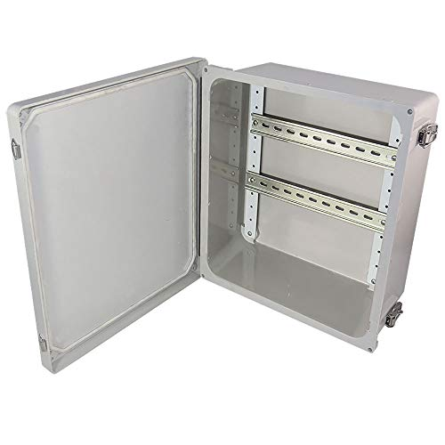Altelix 14x12x6 Industrial DIN Rail Fiberglass Weatherproof Enclosure NEMA 4X -