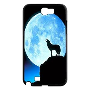 Wolf & fox Pattern Hard Snap Phone Case For For Samsung Galaxy Note 2 Case FKGZ478077