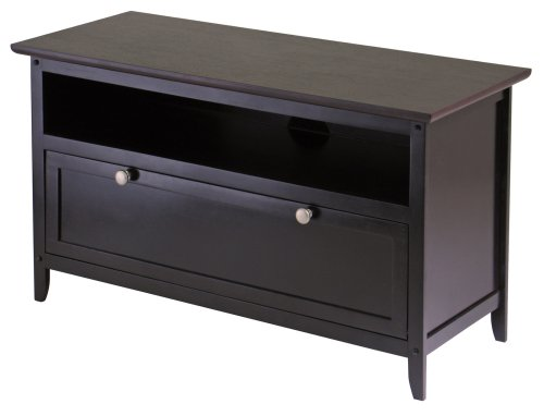 Winsome Wood Zuri 36-Inch TV Stand (36 Inch Wide Tvs)