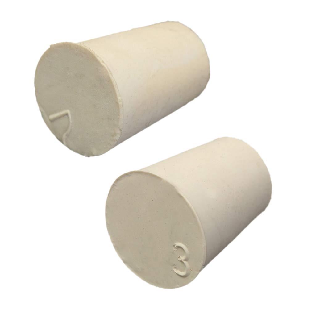 Sharplace 10pcs Bouchons Conique Solide Fournitures de Laboratoire Tube à Essai