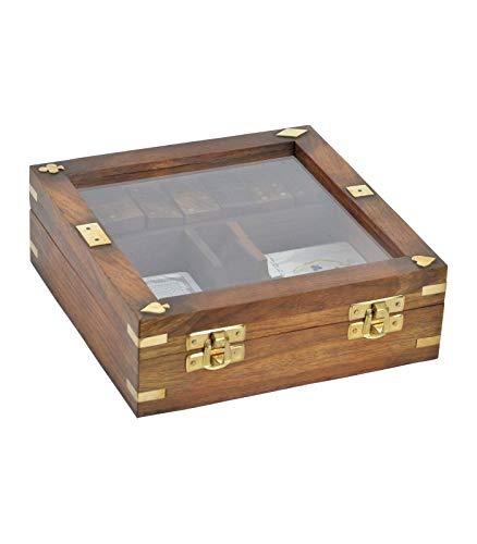 Wadiga - Caja de Juegos de Madera de Rosa - Dados, Tarjetas, Domino: Amazon.es: Hogar