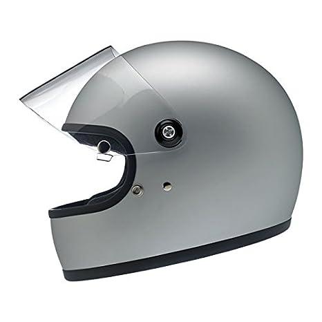Helm Gringo Biltwell Integrale Flat Silver Silber matt Helmet Vintage Retro 70er Jahre Custom Chopper Bobber Gr/ö/ße L Flat Silver