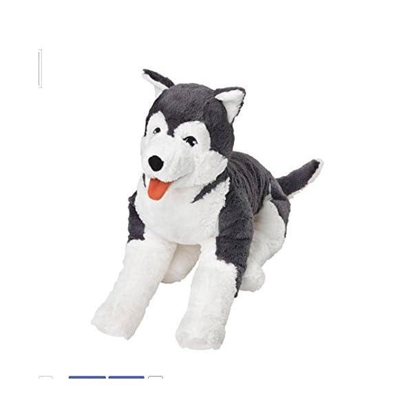 Ikea Livlig Soft Toy Husky Dog Siberian Stuffed Alaskan Malamute Eskimo Large 4