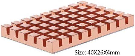 huiingwen 40x26MM Kupferkühlkörper Und 2/3 / 4MM Wärmeleitender Klebstoff Für MSATA NGFF 5030 Msata3.0 Festkörper-SSD-Kühlerkühler