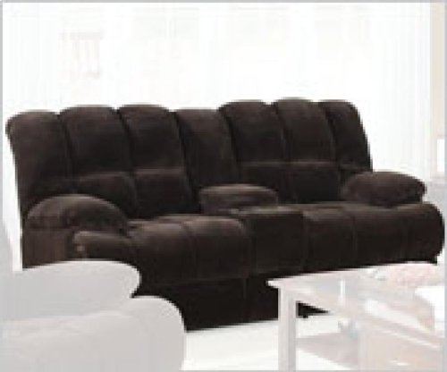 Acme 50476 Ahearn Motion Loveaseat with Console, Chocolate Champion