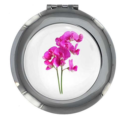Sweet Pea Flower Image Design Handbag Mirror