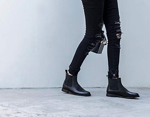 Bottines Martin Hiver Femmes Noires de Noir Automne Britannique Bottes Style xFdw7vPn