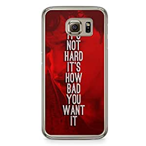 Its Not Hard Samsung Galaxy S6 Transparent Edge Case
