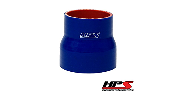 4.0 to 3.0 Inch Blue Silicone Reducer Coupler 5 Layers of Polyester Reinforcement Suitable High Level Turbo Tube with 2x T-Bolt Clamps