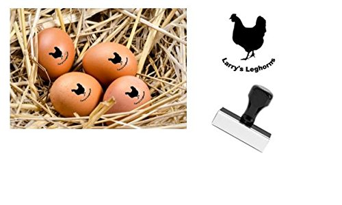 Personalized Rubber Egg Stamp - 12mm impression size - Egg Stamp