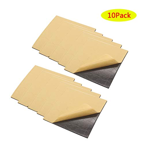 Neoprene Rubber Sheets Foam, Self Stick Adhesive Non-Slip Foam Anti-Vibration Pads (10, 4