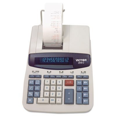 Victor - 2640-2 Two-Color Printing Calculator, Black/Red Print, 4.6 Lines/Sec by Office Realm