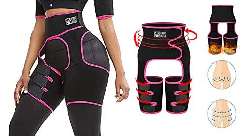 Waist Trimmer for Women, Thigh Trimmer High Waist and Thigh Trimmer Butt Lifter Training Ultra Light Thigh Support Shapewear (Rose Pink, M)