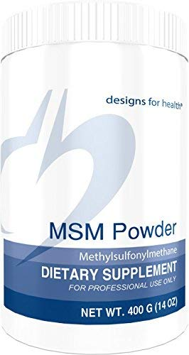 Designs for Health MSM Powder - High 5000 Milligrams Dose, Fast Dissolving  for Collagen +
