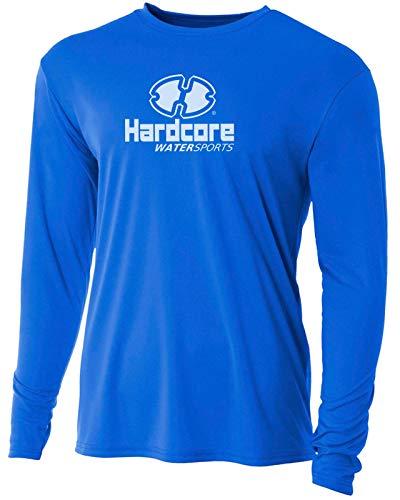 Hardcore Men's Long Sleeve Loose Fit Rash Guard Surf Shirt Water Sports Swimwear ()