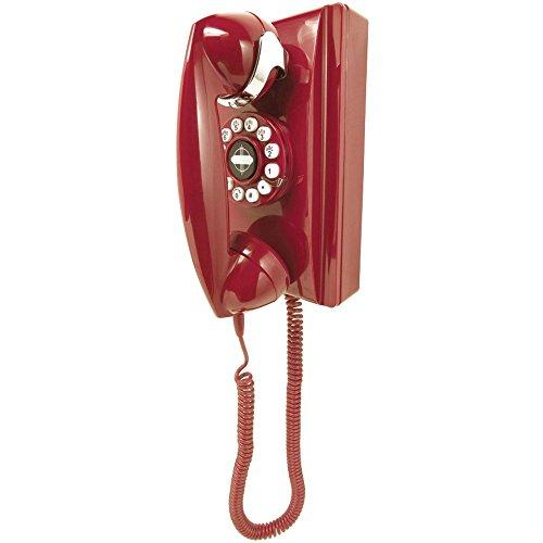 (CROSLEY RADIO CR55-RE CLASSIC WALL PHONE (RED))