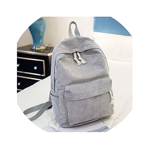 Preppy Style Soft Fabric Backpack Female Corduroy Design School Backpack For Teenage Girls Striped Backpack Women,1241A