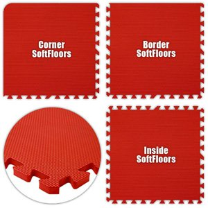 Floor Pad, SoftFloors, Red, 10' x 12' Set, Total Sq. Ft.:120