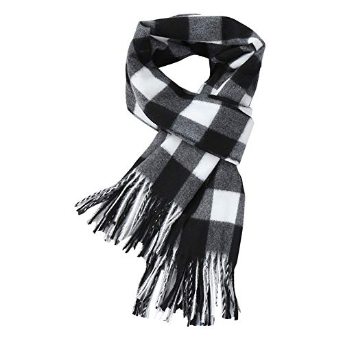 (MissPretty Cashmere Scarf Pashmina Soft for Women and Men Wool Wraps Feel Warm Stole Winter Scarves, 78'' x 25'' (Black))