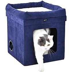 AmazonBasics - Casa para gato plegable, Azul
