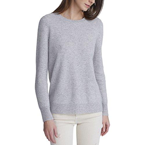 White + Warren Essential Crewneck Sweater - Women's Misty Grey Heather, M