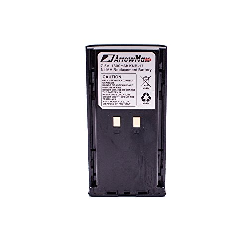 ArrowMax AKCM0017-1800-D KNB-16 KNB-16A KNB-17 KNB-17A KNB-22 KNB-22N Battery for Kenwood TK-190 TK-280 TK-380