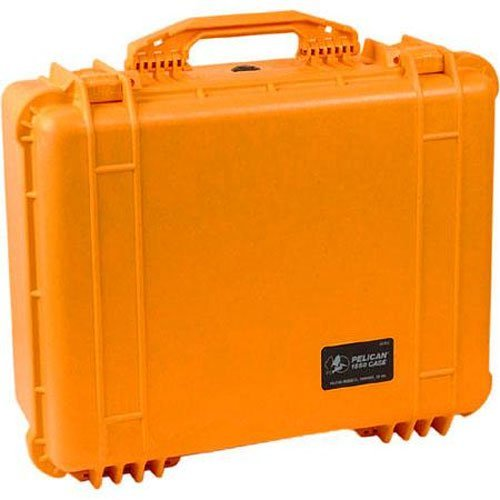 Pelican 1550 Case With Padded Dividers (Orange) (Pelican Case 1550 Orange)