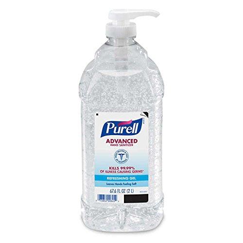 PURELL Advanced Instant Hand Sanitizer - 2L Pump Bottle, Original oXlshZ, 3 Bottles