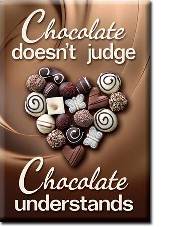(CHOCOLATE DOESN'T JUDGE.CHOCOLATE UNDERSTANDS, 2