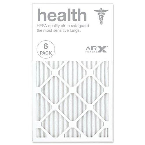 AIRx HEALTH 14x24x1 MERV 13 Pleated Air Filter - Made in the USA - Box of 6