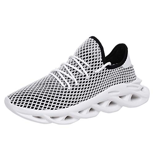 (LUCAMORE Mens Walking Shoes Running Athletic Fashion Tennis Breathable Slip-On Lightweight Sneakers Grey)