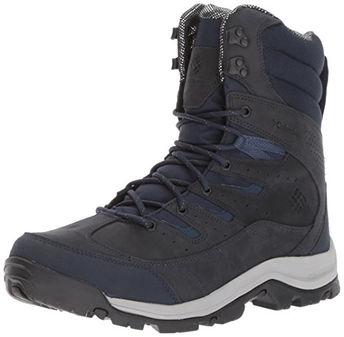 Leather Columbia (Columbia Men's Gunnison Plus Leather Omni-Heat Hiking Shoe, Collegiate Navy, Elk, 9.5 D US)