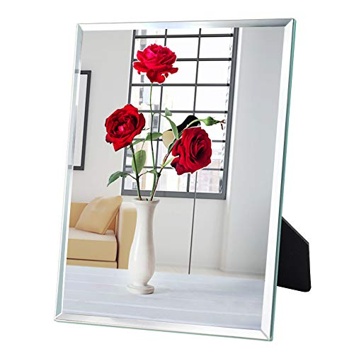 PETAFLOP Makeup Mirror Frameless Desk Mirror 0.25 inches Beveled Mirrors for Wall