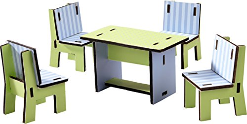 HABA Little Friends Dining Room - Dollhouse Furniture for 4