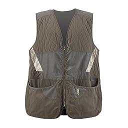Browning Men\'s Summit Vest, Green/Dark Grey, Medium